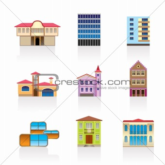 different kind of houses and buildings