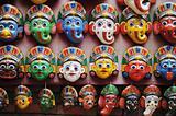 Colorful masks in Kathmandu Nepal