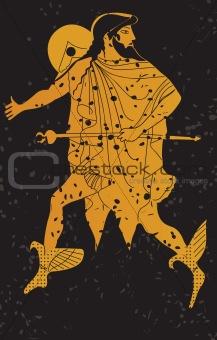 Greece mural painting,  Greek Soldier