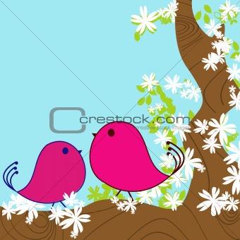 spring background card