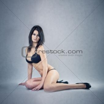 Beautiful caucasian pinup girl