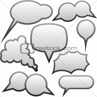 Grey speech bubbles