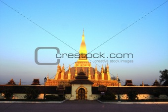 Golden Wat in Laos