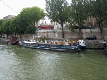 A barge on the Seine