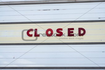 Closed Movie Theater Sign