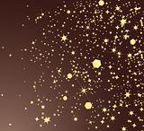 Shiny golden stars. Vector