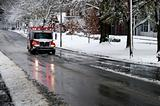 Ambulance on a Snowy Day
