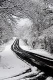 Snow storm on a rural highway
