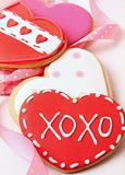 Heart-shape cookies for Valentine&#39;s Day 