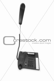Office phone isolated on the white background