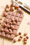 tasty chocolate with hazelnuts