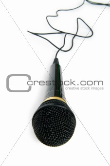 Audio microphone isolated on the white background
