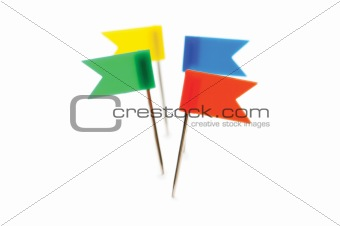 Four flags isolated on the white background