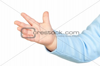 Baby's tiny hand