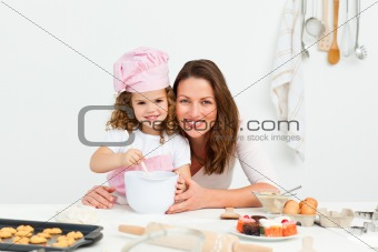 Portrait of an adorable mother and daughter