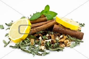 Cinnamon Sticks with lemon slices