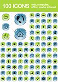 Set of 100 web icons