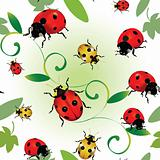 Seamless  ladybugs