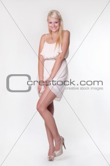 attractive blond girl pose