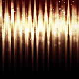 Abstract striped background with  bokeh lights
