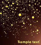 Shiny golden stars. Vector