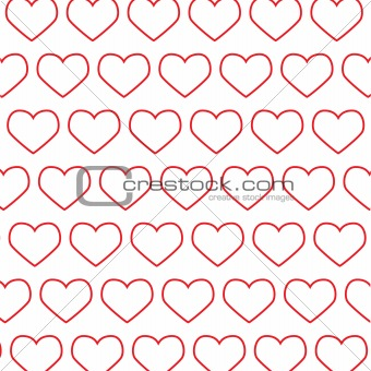 Abstraction from red hearts.Vector illustration