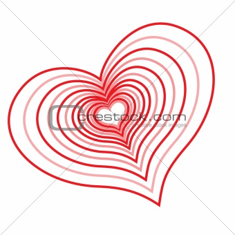 Abstract red heart.Vector illustration
