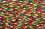 Varicoloured knitted background