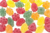 Multicoloured fruit jellies