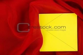 blank yellow card