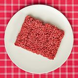 raw minced meat on kitchen table