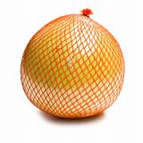 pomelo fruit wrapped in plastic reticle
