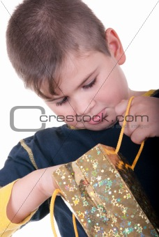 Boy searches for a gift