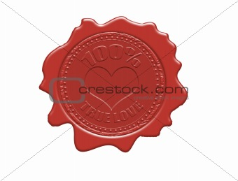 100% true love wax seal