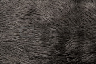 A beautiful fluffy Gray artificial fur