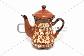 Beautiful ceramic teapot