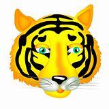 Portrait ravenous animal tiger