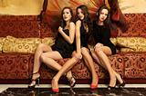 Portrait of a three beautiful women