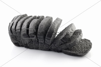 Black charcoal bread