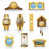 Watches icon set.