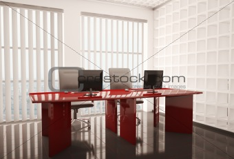 office with computers 3d