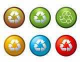 Vector recycle buttons icons symbols illustration