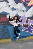 modern dancer girl outdoor
