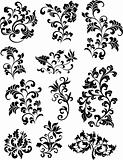 swirl corner pattern design