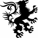 heraldic classic griffin design