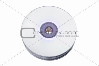 CDs isolated on white