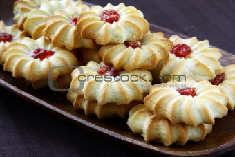beautiful cookies with jam