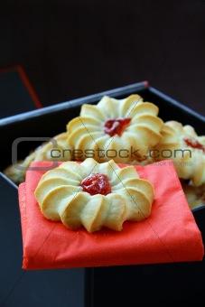 beautiful cookies with jam