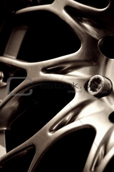 chromed wheel hub