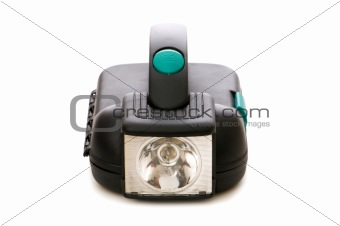 Small flashlight isolated on the white background